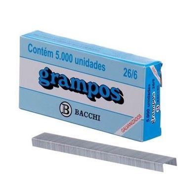Imagem de GRAMPO GRAMPEADOR GALVANIZADO 26/6 C/5000 BACCHI