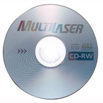 Imagem de CD-RW REGRAVAVEL 700MB 80MIN MULTILASER