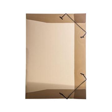 Imagem de PASTA ABA ELASTICA PVC FINA 1/2 OFICIO LINE FUME DELLO