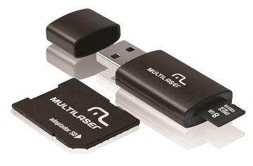 Imagem de CARTAO DE MEMORIA MICRO SD C/PEN DRIVE 8GB MC058 MULTILASER
