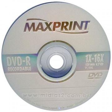 Imagem de DVD-R GRAVAVEL 4.7GB 120MIN 4X AVULSO MAXPRINT
