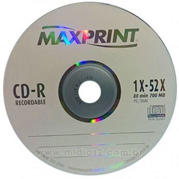Imagem de CD-R GRAVAVEL 700MB 80MIN AVULSO MAXPRINT