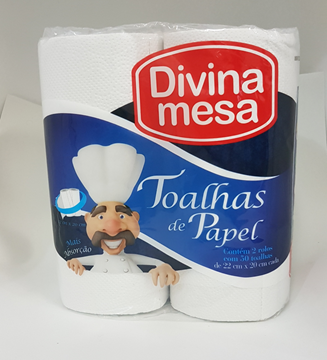 Imagem de PAPEL TOALHA FOLHA DUPLA C/2RL 20X22 DIVINA MESA